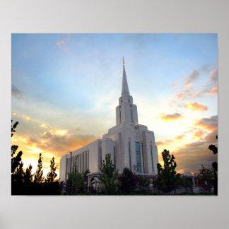 För utah för tempel för Oquirrh berg LDS Poster
