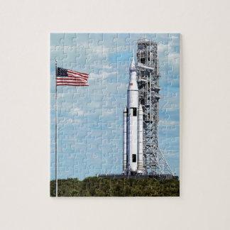 För utrymmebarkass för NASA SLS Launchpad för Pussel