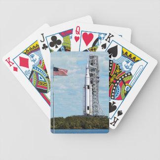 För utrymmebarkass för NASA SLS Launchpad för Spelkort