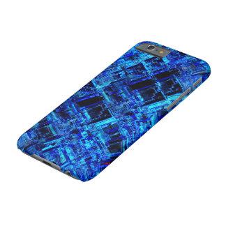 För utrymmemetall för blått främmande raster barely there iPhone 6 fodral