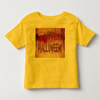 För väggsmåbarn för happy halloween blod befläckt t shirts