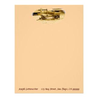 För vagnanpassningsbar för vintage antik brevpappe brevhuvud