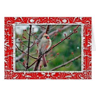 För vågrätkort för kardinal 4539 julkort hälsningskort