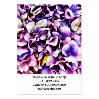 För vanlig hortensiablomma för härlig lavendel pur visitkort mall