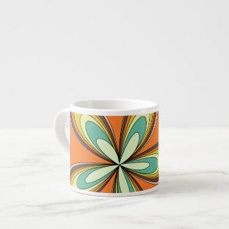 för vårhippie för 70-tal retro flower power espressomugg