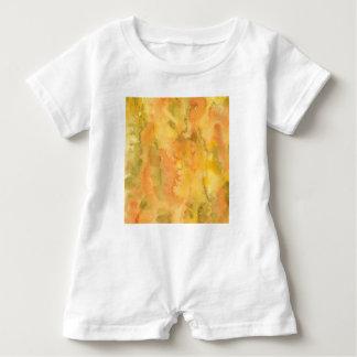 För vattenfärgbaby för orange grön Romper T Shirts