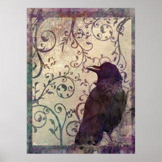 För vattenfärgbläck för udda tankar overklig konst print