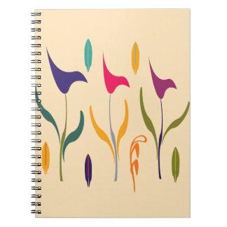 För vattenfärgCalla för chick gullig Anteckningsbok Med Spiral