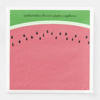 För vattenmelonmiddag för personlig rosa servetter