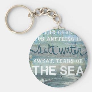 För vattenstrand för hav   salt hav rund nyckelring