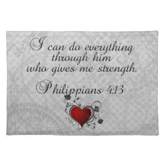 För VersePhilippians för bibel kristen 4:13 Bordstablett