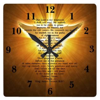 För versionPsalm 23 för kung James Scripture för Fyrkantig Klocka