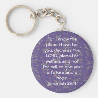 För vet jag att planerar mig har - den Jeremiah Rund Nyckelring