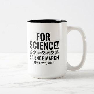 För vetenskap! Två-Tonad mugg