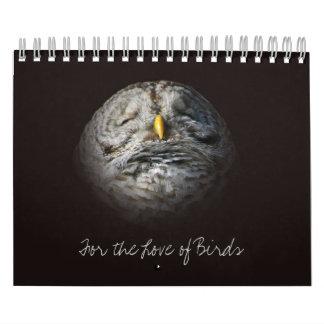 För vildfågel för love birds original- fotografi kalender