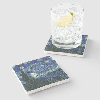 För Vincent Van Gogh för Starry natt målning konst Underlägg Sten