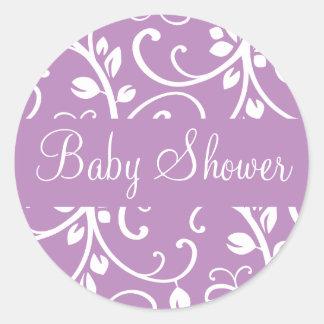För Vinekuvertet för baby shower förseglar den blo