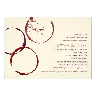 För vinfläck för inbjudningskort för möhippan  