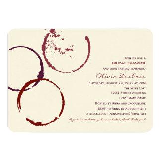 För vinfläck för inbjudningskort för möhippan | 12,7 x 17,8 cm inbjudningskort