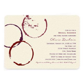 För vinfläck för inbjudningskort för möhippan ri
