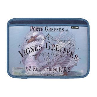 För vinrankavintage för franskt vin annonsering MacBook air sleeve