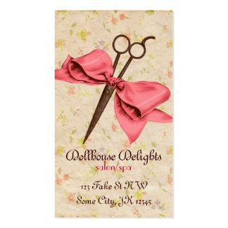 för vintage för hårstylist flickaktigt sax för visitkort