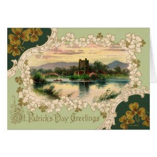 För vintagehälsning för St. Patricks kort