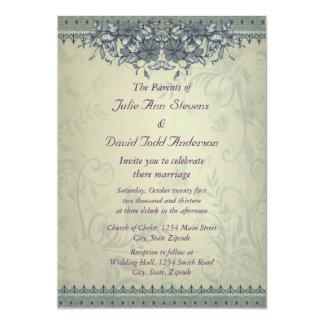 För vintagesnöre för vis man grönt bröllop 12,7 x 17,8 cm inbjudningskort
