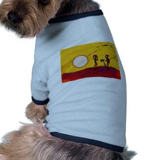 För vintagestil för afrika retro gåvor t-shirt för hundar