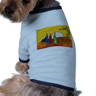 För vintagestil för afrika retro gåvor hund t-shirts