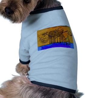 För vintagestil för afrika retro gåvor djur tee shirt