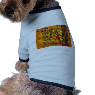 För vintagestil för afrika retro gåvor kläder för husdjur