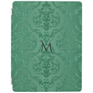 För vintagestil för Jade grön damast iPad Skydd