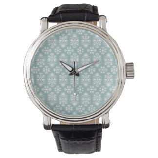 För vintageVictorian för elegant grön damast för Armbandsur