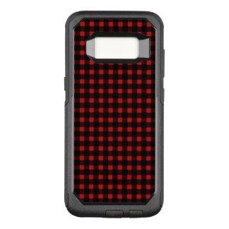 För vinterbuffel för Lumberjack röd svart pläd OtterBox Commuter Samsung Galaxy S8 Skal