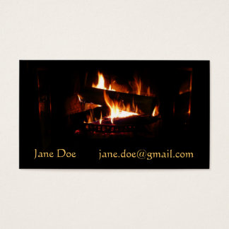 För vinterplats för spis varm fotografi visitkort
