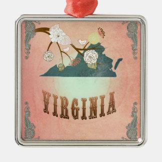 För Virginia för modern vintage persika för Julgransprydnad Metall