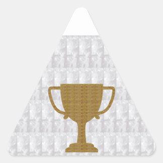 För vitbakgrund NVN287 för GULD- trofé Crystal Triangelformat Klistermärke