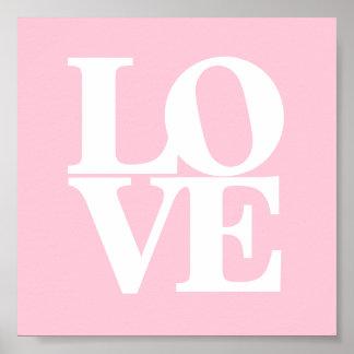 För vitbarnkammare för kärlek rosa affisch