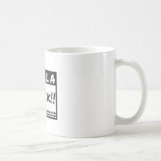 För vitdesign för Holla svart gåva, t-skjorta Kaffemugg