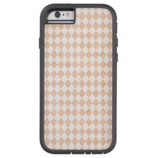 För vitHarlequins för mycket liten persika mjuk Tough Xtreme iPhone 6 Fodral