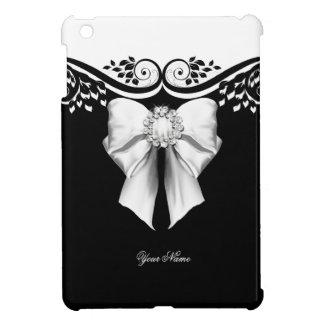 För vitjuveln för eleganten avbildar den svart pil iPad mini skydd