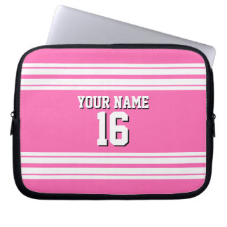 För vitlaget för shock rosa #2 den Jersey Laptop Sleeve
