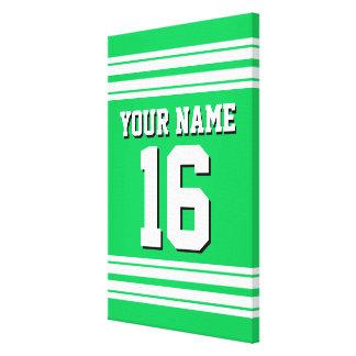 För vitlaget för smaragden numrerar den gröna canvastryck