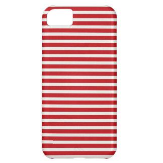 För vitrandar för rolig jul nautiskt rött mönster iPhone 5C fodral