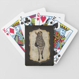 För vitsebra för vintage guld- däck för kort spelkort