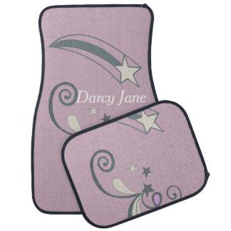 För vitskytte för personlig purpurfärgad krusidull bilmatta