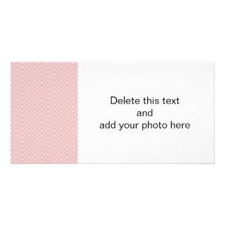 För vitsparre för baby rosa mönster 2A Anpassade Foto Kort
