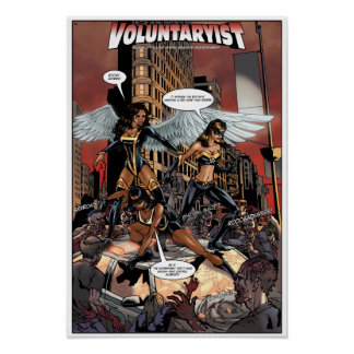 För Voluntaryist affischen kontra StatistZombies - Poster