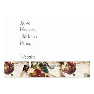 För vykortCollage för härlig vintage blom- design Set Av Breda Visitkort